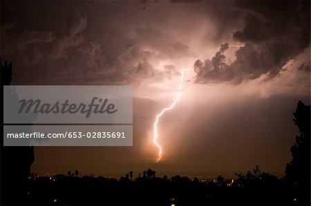A lightening bolt Stock Photo - Premium Royalty-Free, Image code: 653-02835691