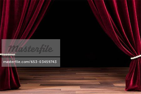 An Empty Theatre Stage Stock Photo - Premium Royalty-Free, Image code: 653-03459743