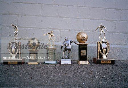 Various sports trophies Stock Photo - Premium Royalty-Free, Image code: 653-03575259