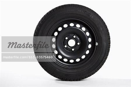 A tire, side view Stock Photo - Premium Royalty-Free, Image code: 653-03575460