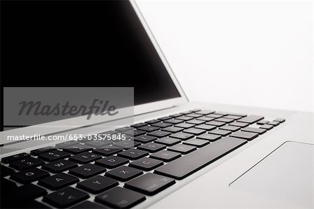 A laptop, close-up Stock Photo - Premium Royalty-Free, Image code: 653-03575845