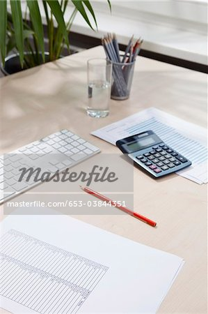 Desk of invoice equipment Stock Photo - Premium Royalty-Free, Image code: 653-03844351