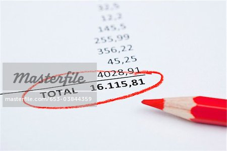 Invoice total Stock Photo - Premium Royalty-Free, Image code: 653-03844359