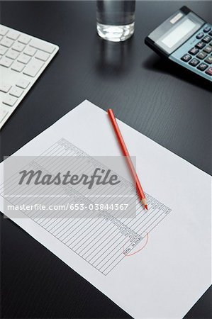 Desk of invoice equipment Stock Photo - Premium Royalty-Free, Image code: 653-03844367