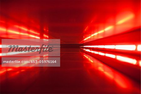 An abstract corridor in red tones Stock Photo - Premium Royalty-Free, Image code: 653-05976164