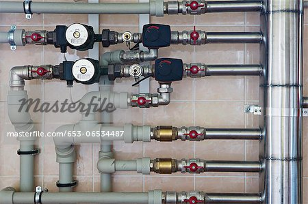Home heating system Stock Photo - Premium Royalty-Free, Image code: 653-06534487