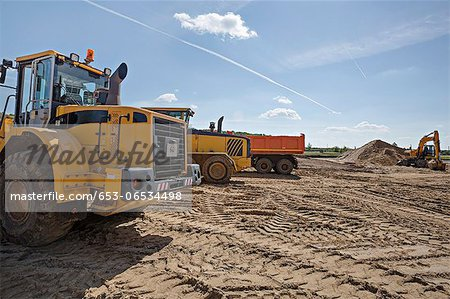 Construction vehicles on work site Stock Photo - Premium Royalty-Free, Image code: 653-06534498