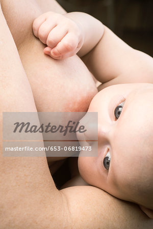 Mother breastfeeding her baby Stock Photo - Premium Royalty-Free, Image code: 653-06819473