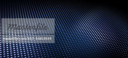 A pattern of metallic dots on a dark blue background Stock Photo - Premium Royalty-Free, Image code: 653-06819549