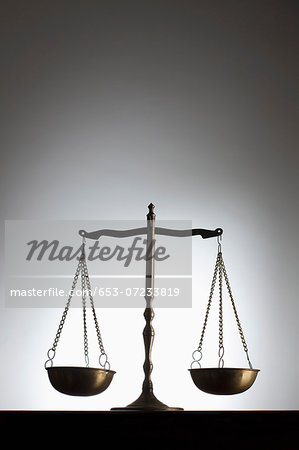 Scales of justice Stock Photo - Premium Royalty-Free, Image code: 653-07233819