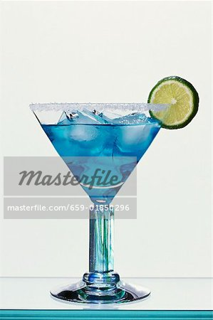 Blue Margarita (Tequila and Blue Curaçao) Stock Photo - Premium Royalty-Free, Image code: 659-01850296