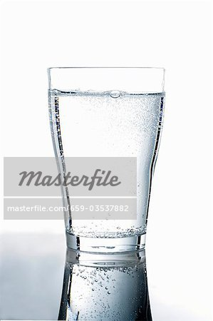 A glass of mineral water Stock Photo - Premium Royalty-Free, Image code: 659-03537882