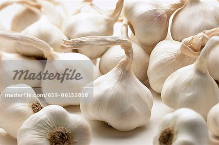 Many Fresh Garlic Bulbs Stock Photo - Premium Royalty-Free, Image code: 659-06152858