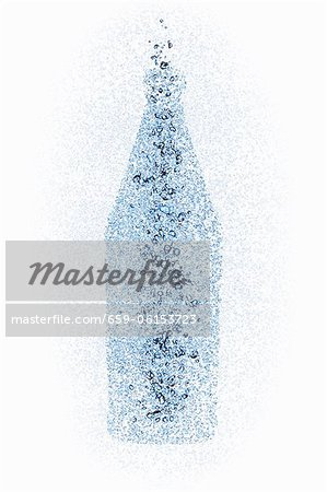 A bottle with water pearls Stock Photo - Premium Royalty-Free, Image code: 659-06153723