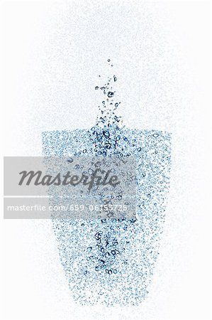 Behind a glass with water pearls Stock Photo - Premium Royalty-Free, Image code: 659-06153725
