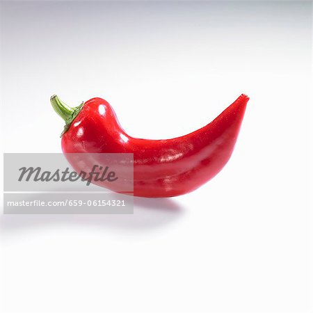 A pointed red pepper Stock Photo - Premium Royalty-Free, Image code: 659-06154321