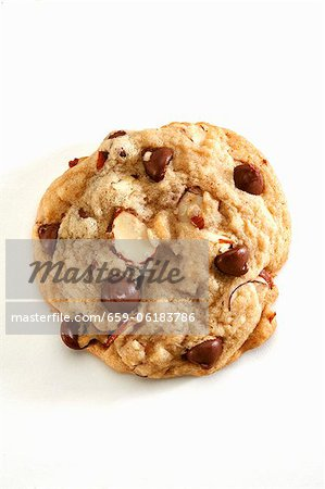 Chocolate Chip Almond Cookie Stock Photo - Premium Royalty-Free, Image code: 659-06183786