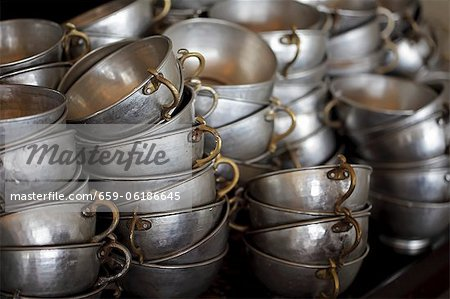 Stacked Middle Eastern cups Stock Photo - Premium Royalty-Free, Image code: 659-06186645