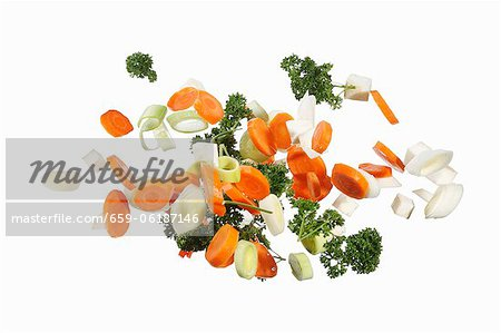 Soup vegetables with parsley Stock Photo - Premium Royalty-Free, Image code: 659-06187146