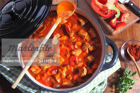 Hungarian goulash in a pot Stock Photo - Premium Royalty-Free, Image code: 659-06187208