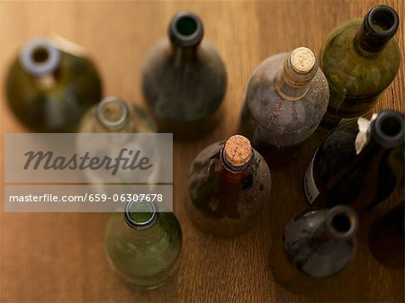 Dusty wine bottles Stock Photo - Premium Royalty-Free, Image code: 659-06307678