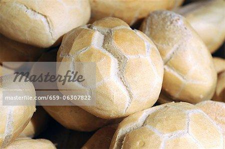 Italian bread rolls in a bakery