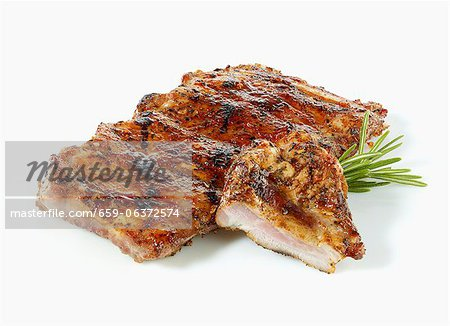 Marinated spare ribs Stock Photo - Premium Royalty-Free, Image code: 659-06372574