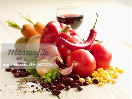 Ingredients for chilli con carne Stock Photo - Premium Royalty-Free, Image code: 659-06372759
