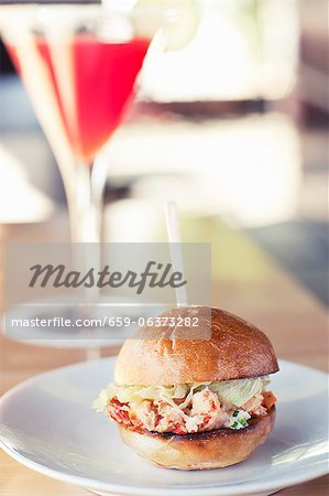 Lobster Sandwich Slider on a Roll Stock Photo - Premium Royalty-Free, Image code: 659-06373282