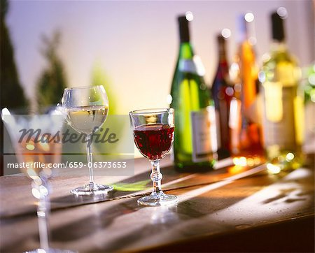 Several Glasses of Wine Stock Photo - Premium Royalty-Free, Image code: 659-06373653