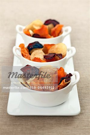 Colourful vegetable chips Stock Photo - Premium Royalty-Free, Image code: 659-06493911