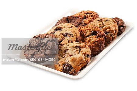 Cookie Platter on a White Background Stock Photo - Premium Royalty-Free, Image code: 659-06494350