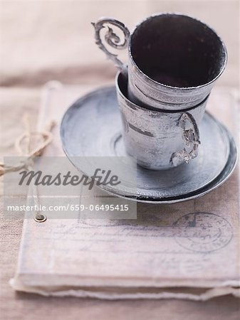 Vintage-style cups Stock Photo - Premium Royalty-Free, Image code: 659-06495415