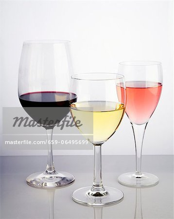 Red, White and White Zinfandel Stock Photo - Premium Royalty-Free, Image code: 659-06495699