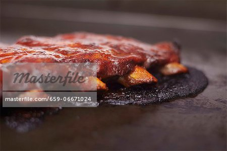 Barbecue Pork Ribs Stock Photo - Premium Royalty-Free, Image code: 659-06671024