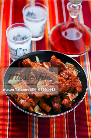 Ribs with ginger Stock Photo - Premium Royalty-Free, Image code: 659-06901442