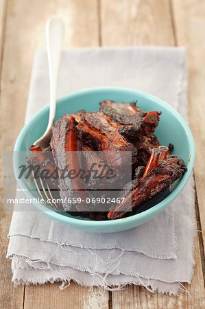 Roasted pork ribs Stock Photo - Premium Royalty-Free, Image code: 659-06902467
