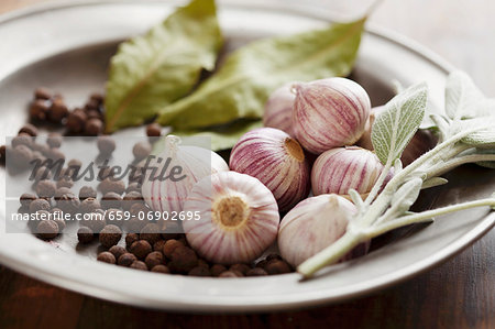An arrangement of herbs and spice Stock Photo - Premium Royalty-Free, Image code: 659-06902695