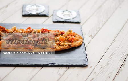 Lobster Topped Flatbread Stock Photo - Premium Royalty-Free, Image code: 659-06903053