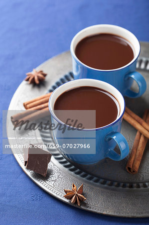 Hot chocolate with spices Stock Photo - Premium Royalty-Free, Image code: 659-07027966