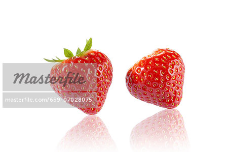 Two strawberries Stock Photo - Premium Royalty-Free, Image code: 659-07028075