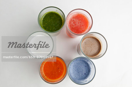 Assorted smoothies Stock Photo - Premium Royalty-Free, Image code: 659-07068567