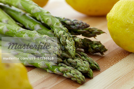 Asparagus and Lemon Stock Photo - Premium Royalty-Free, Image code: 659-07598518