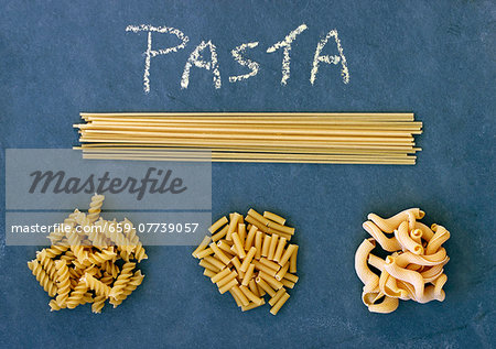Various types of pasta Stock Photo - Premium Royalty-Free, Image code: 659-07739057