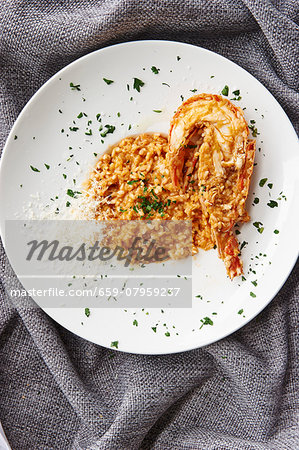 Risotto with lobster Stock Photo - Premium Royalty-Free, Image code: 659-07959237