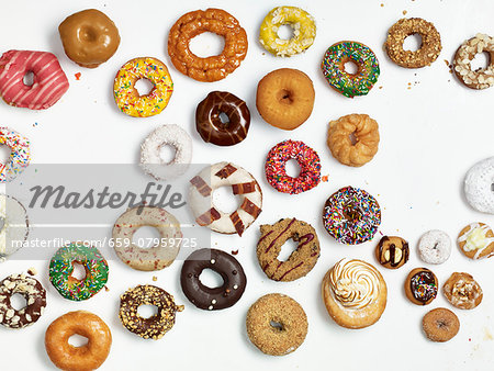 A selection of doughnuts Stock Photo - Premium Royalty-Free, Image code: 659-07959725