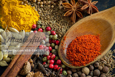 Various spices (close-up) Stock Photo - Premium Royalty-Free, Image code: 659-08419707