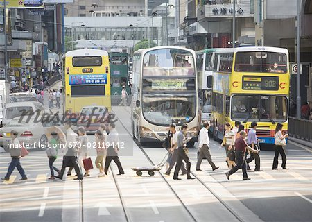 Street in Central Hong Kong Stock Photo - Premium Royalty-Free, Image code: 670-02119442