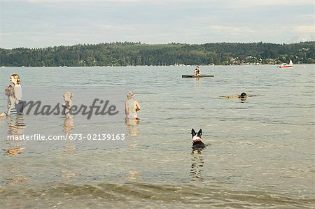 Spending a summer day in the water Stock Photo - Premium Royalty-Free, Image code: 673-02139163