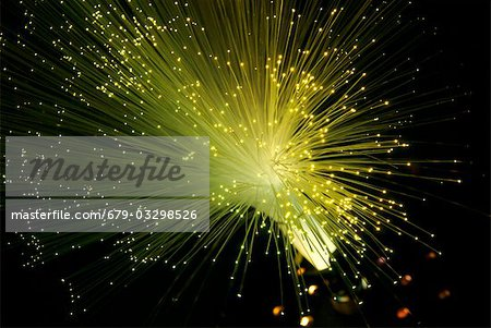 Fibre optics. Bundle of optical fibres. Stock Photo - Premium Royalty-Free, Image code: 679-03298526